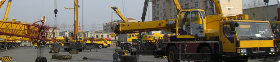 building site mobile cranes