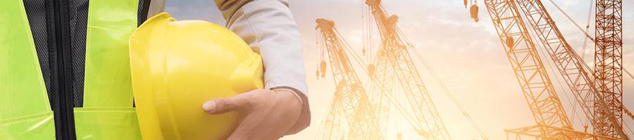 safety inspector on crane worksite