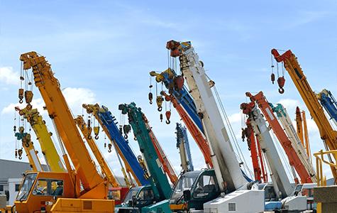 Mobile crane park
