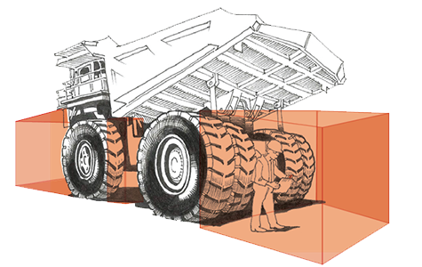PACHOM detection zone dumptruck