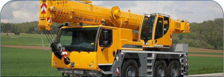 Liebherr LTM1060 crane banner